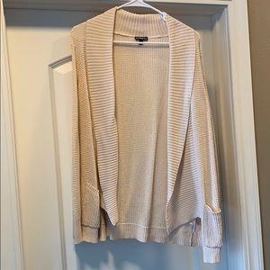 Express pale pink lightweight cardigan size M
